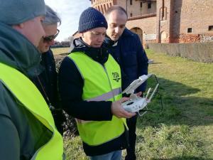 Il drone della Provincia di Novara in un'immagine di repertorio