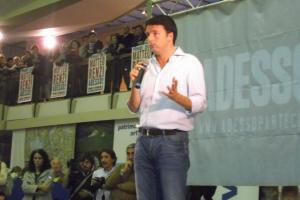 Matteo Renzi a Novara